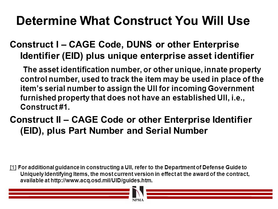 Determine What Construct You Will Use