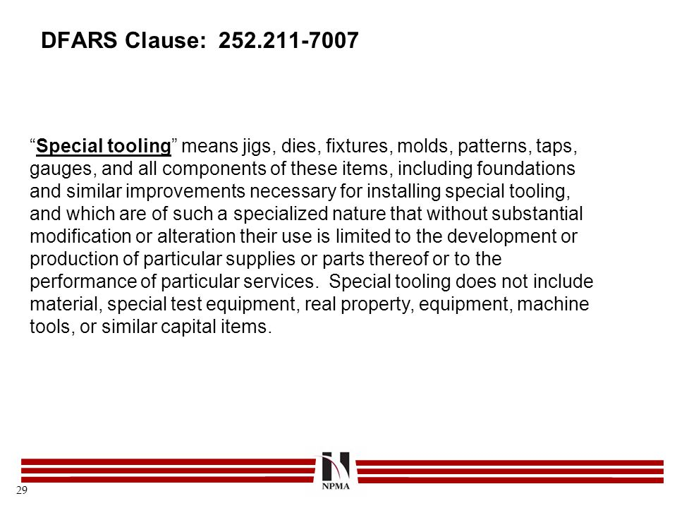 DFARS Clause: 252.211-7007