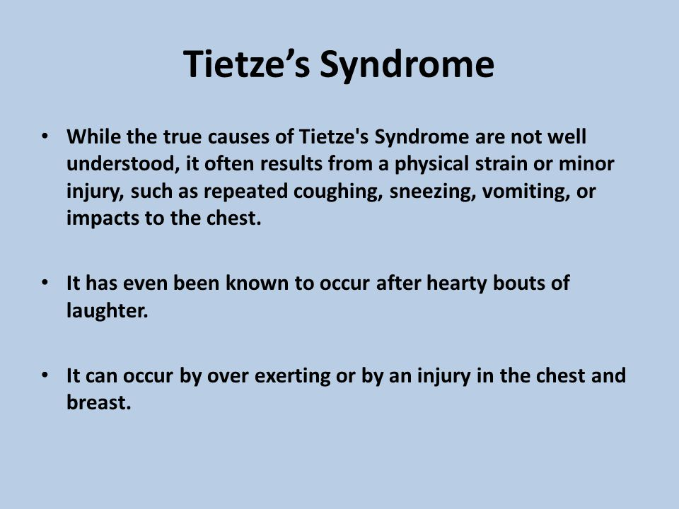 Tietze's Syndrome