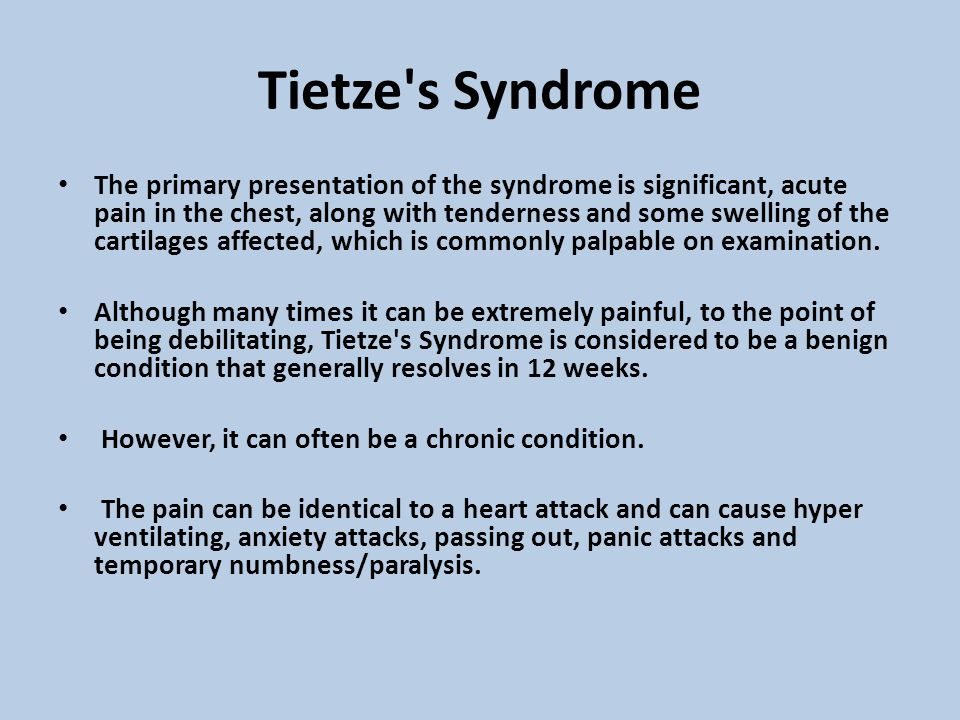 Tietze s Syndrome