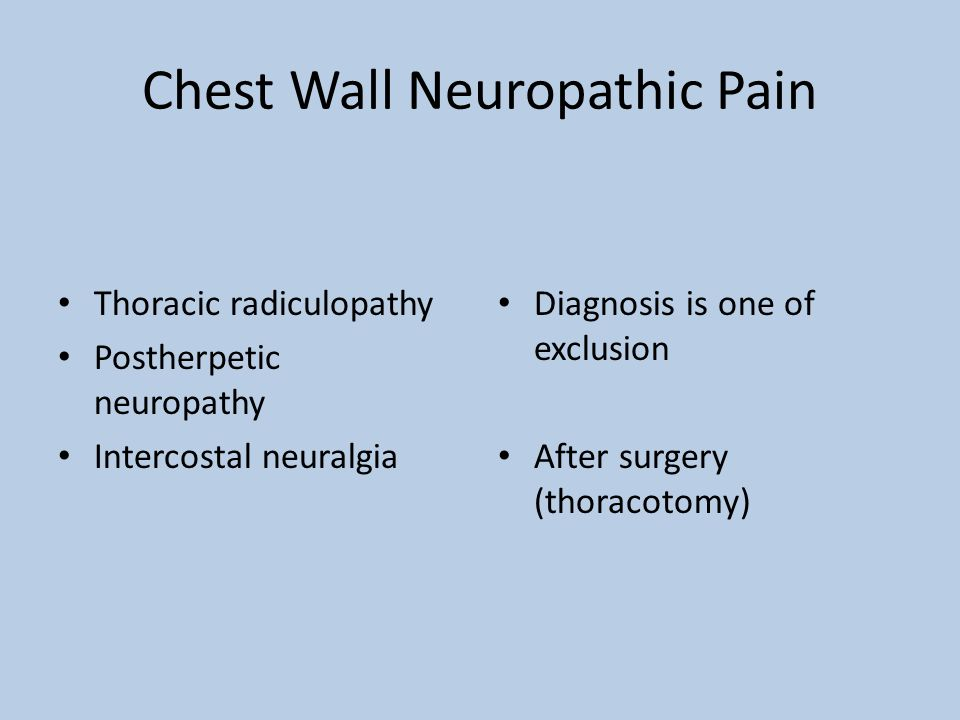 Chest Wall Neuropathic Pain
