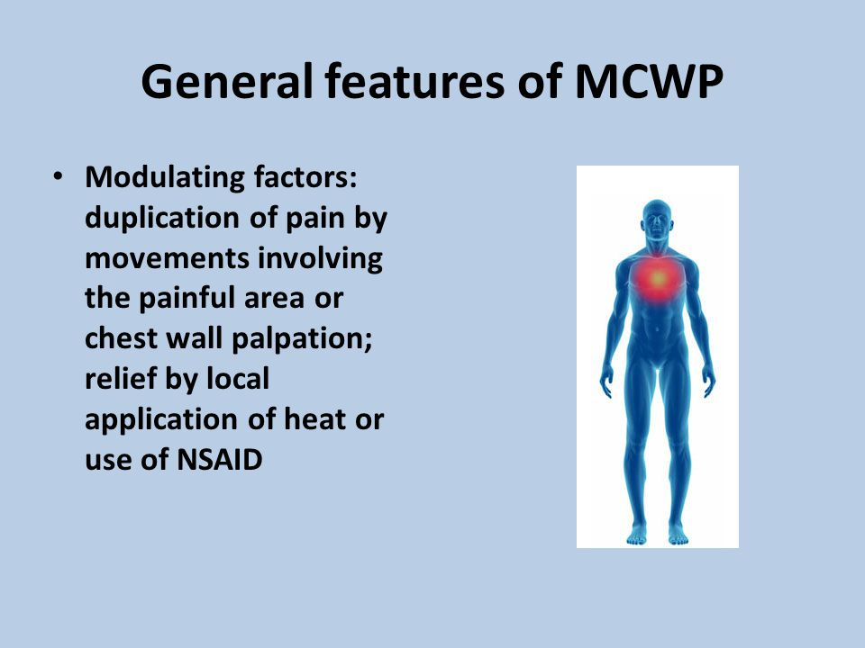 General features of MCWP