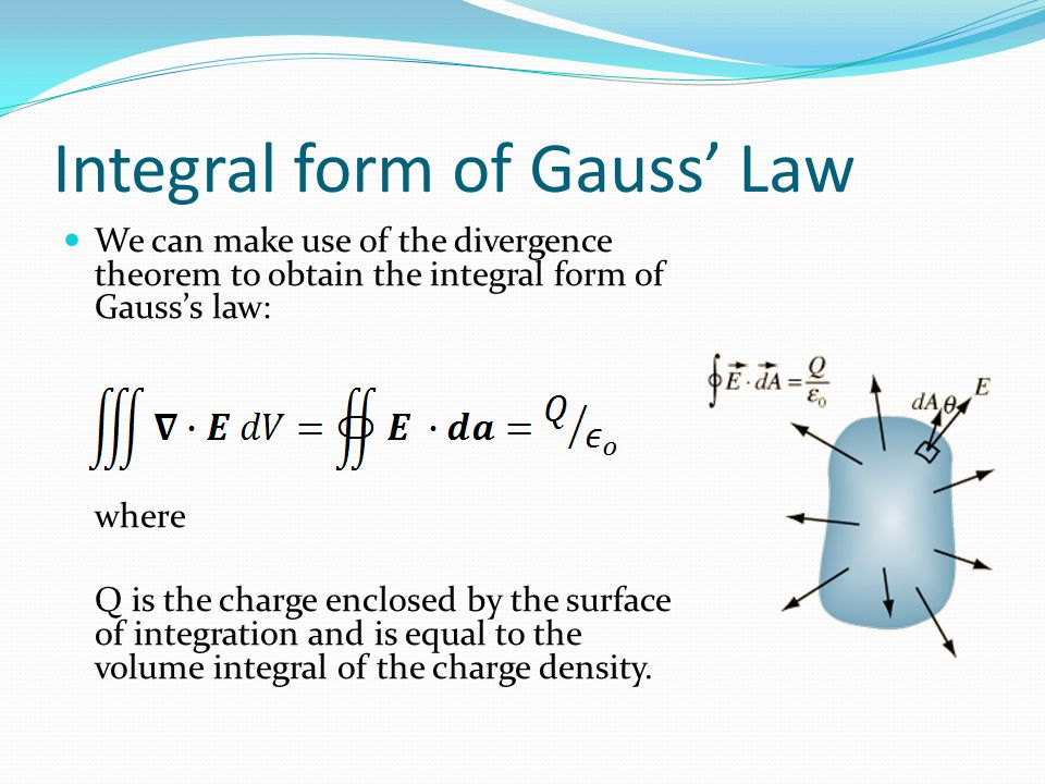 Integral form of Gauss' Law