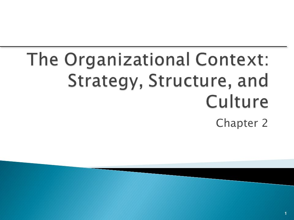 the organizational context strategy structure and Transformation planning and organizational change culture, structure, strategy  context the objective of organizational change management is to enable.