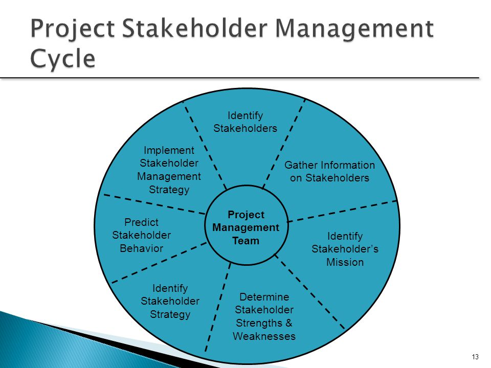 Project Stakeholder Management Cycle