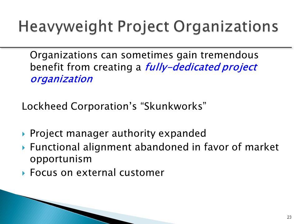 Heavyweight Project Organizations