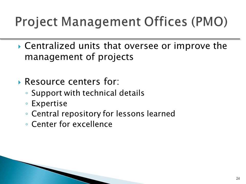 Project Management Offices (PMO)
