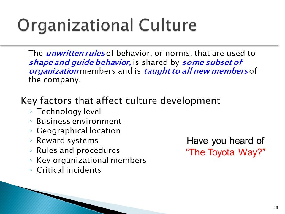 toyota and organizational behavior What lesson can be learned about organizational culture from this  toyota case study uploaded by  29855030 concept and meaning of organizational behavior.