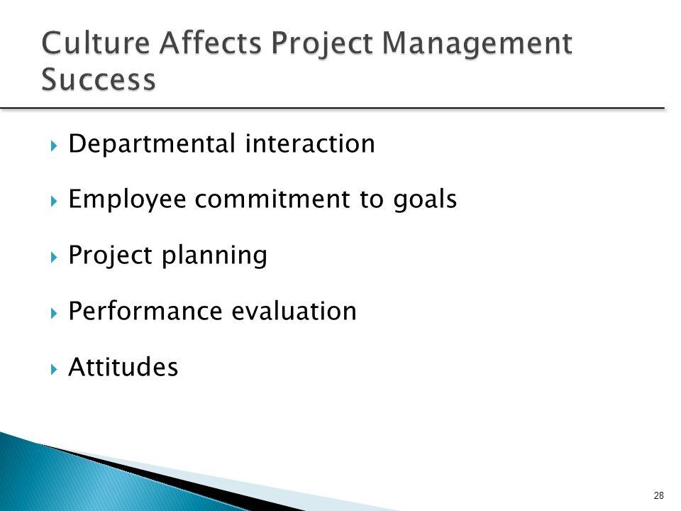 Culture Affects Project Management Success