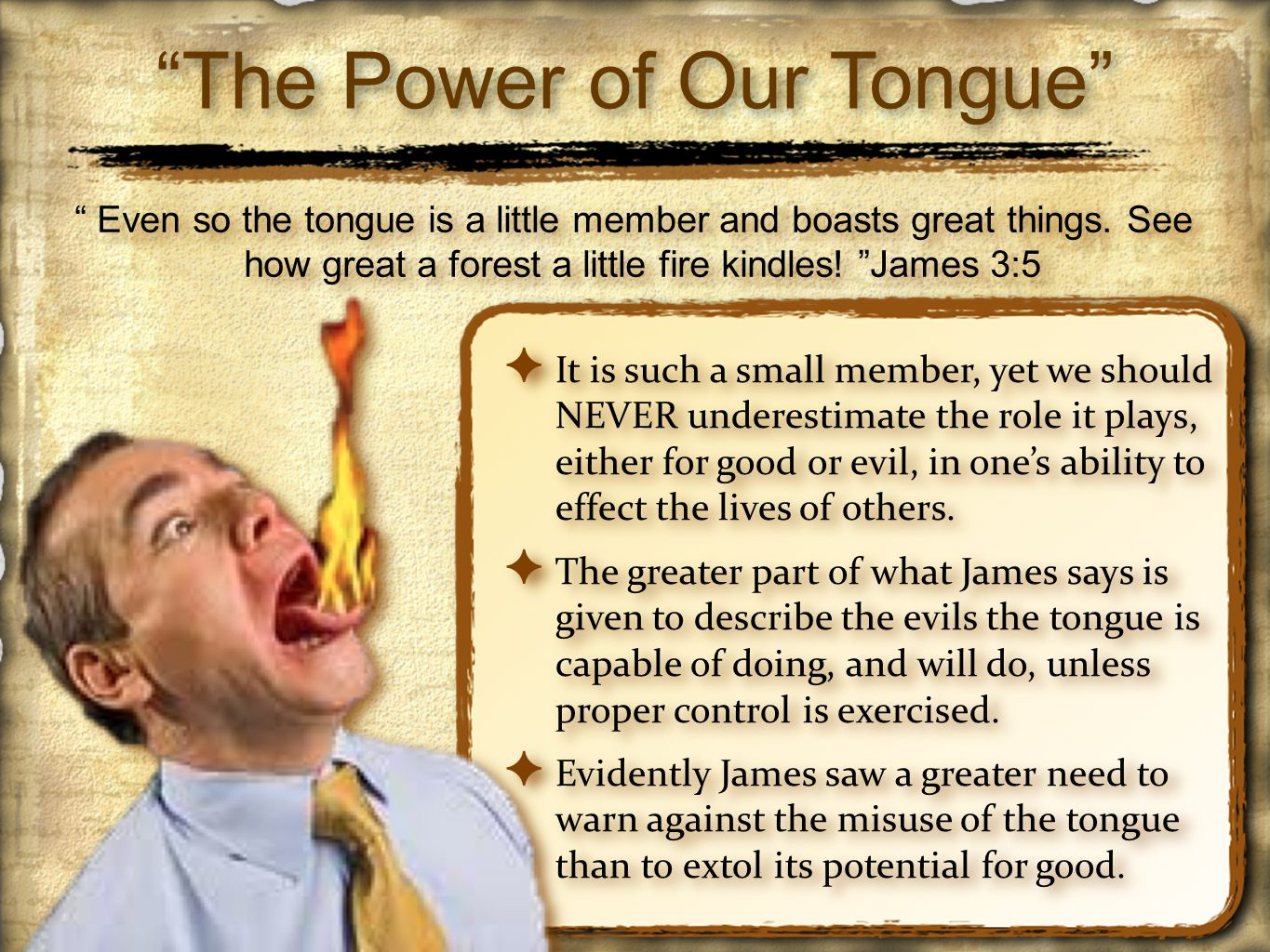 The Power of Our Tongue