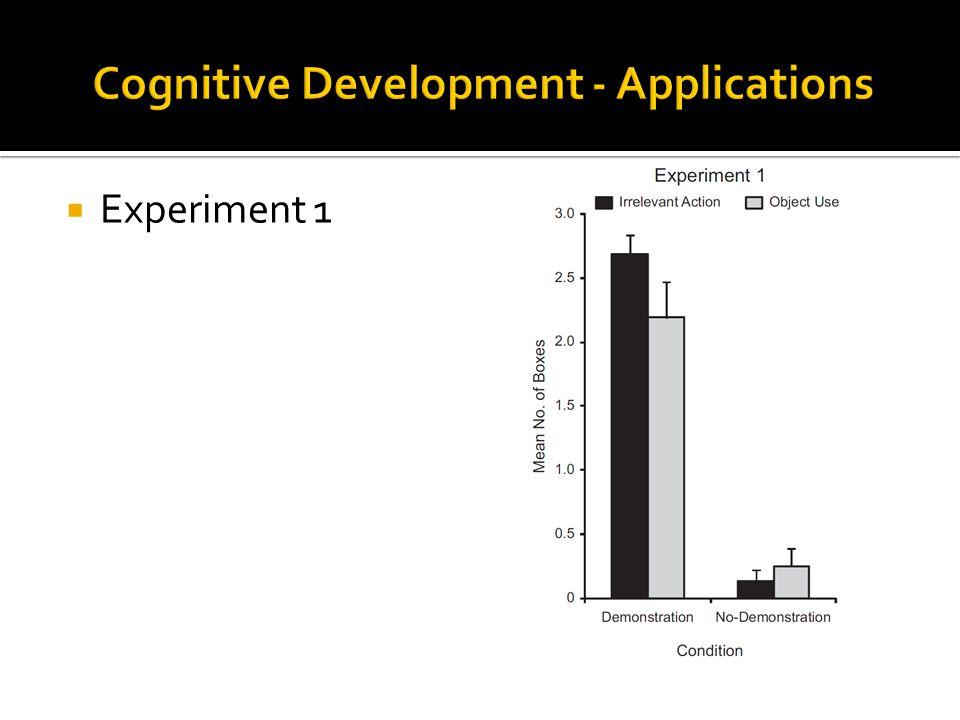 Cognitive Development - Applications