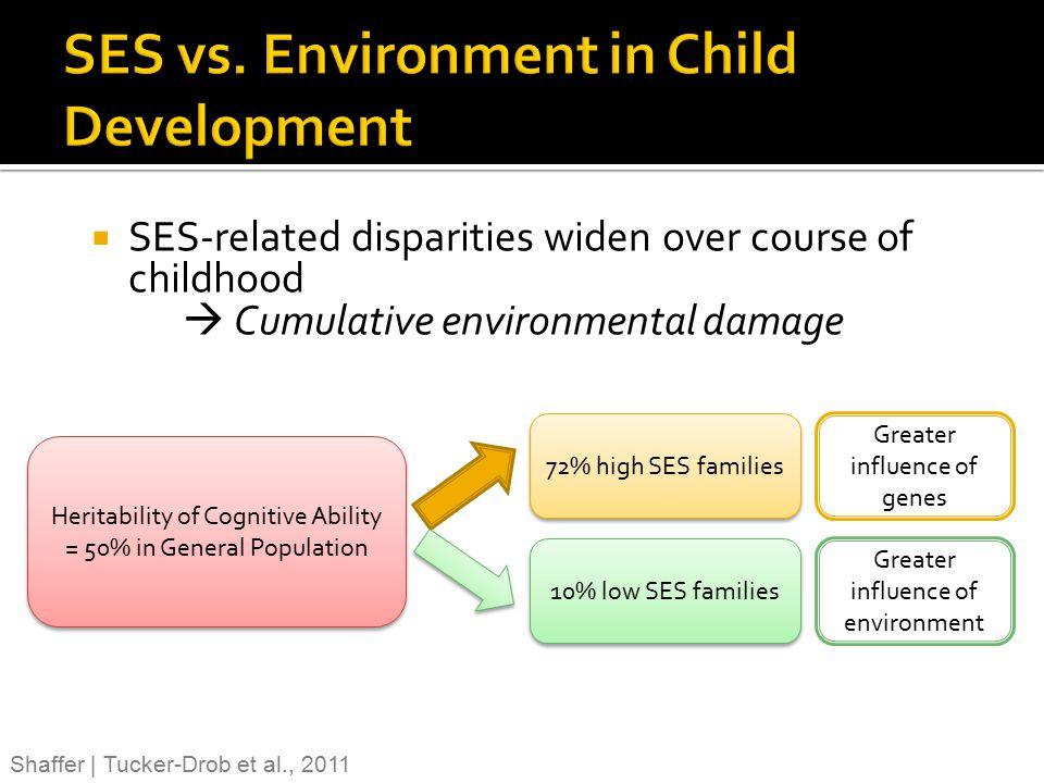 SES vs. Environment in Child Development