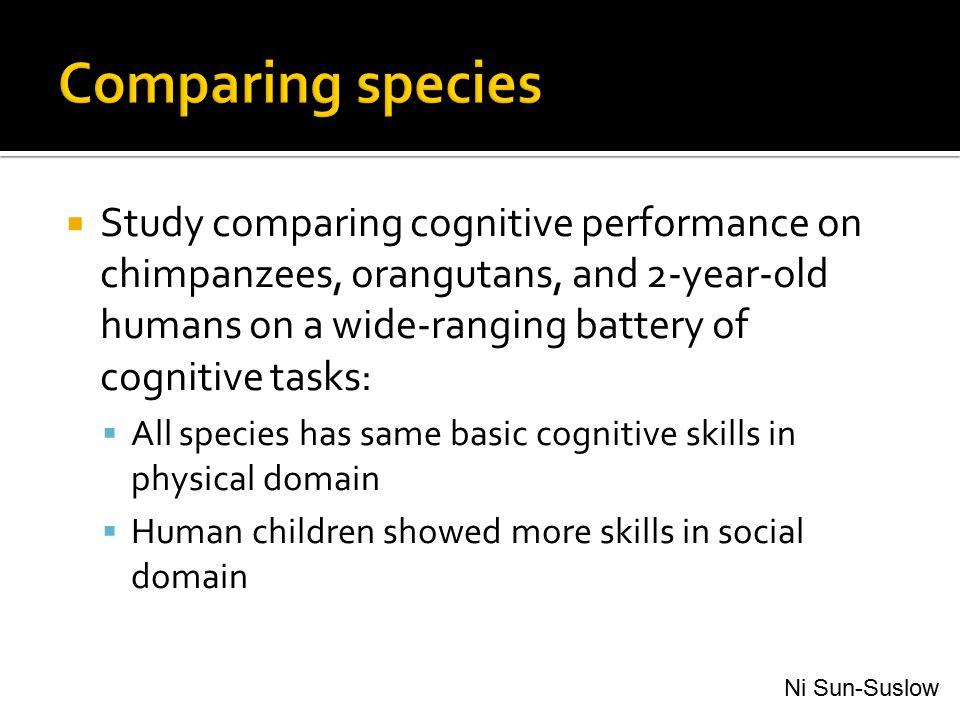 Comparing species