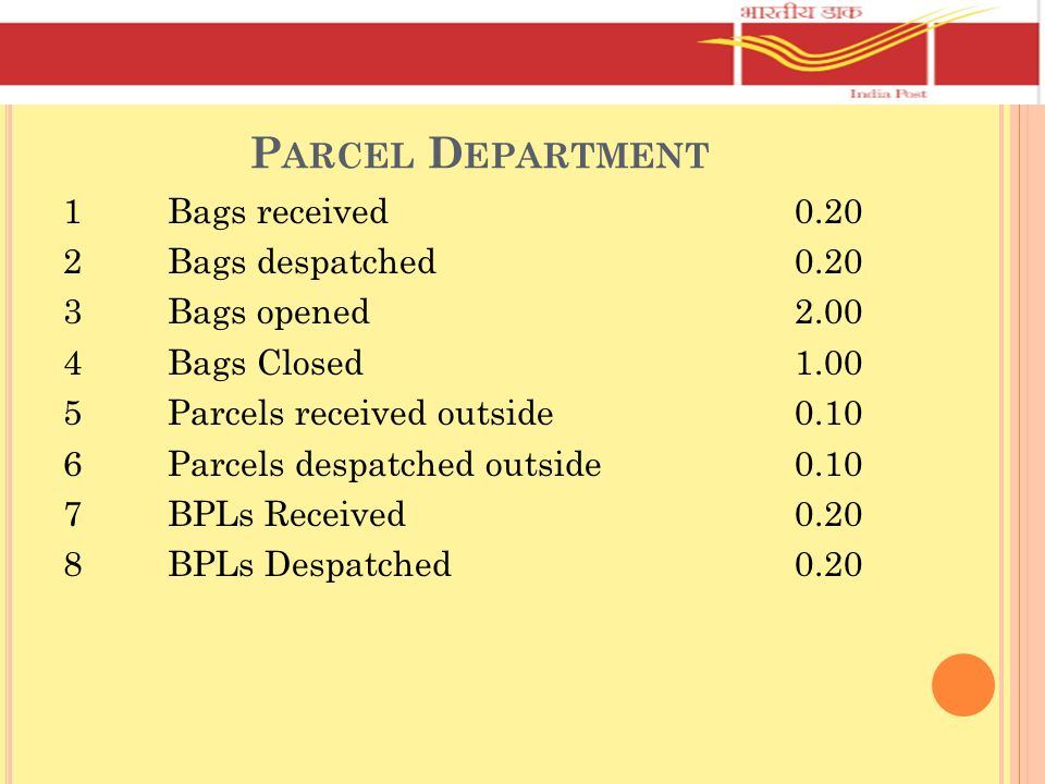 Parcel Department