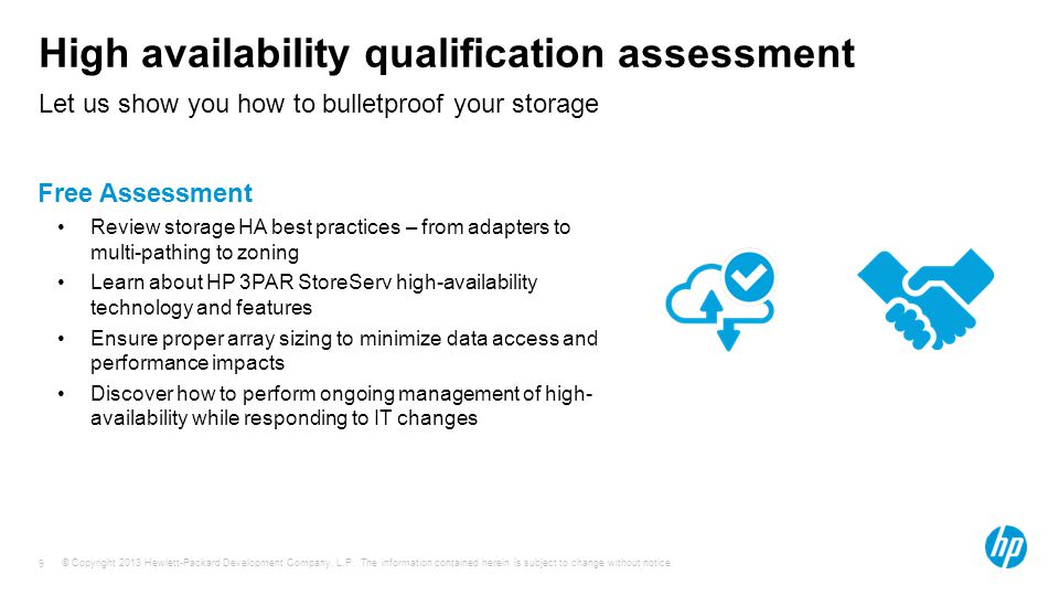 High availability qualification assessment