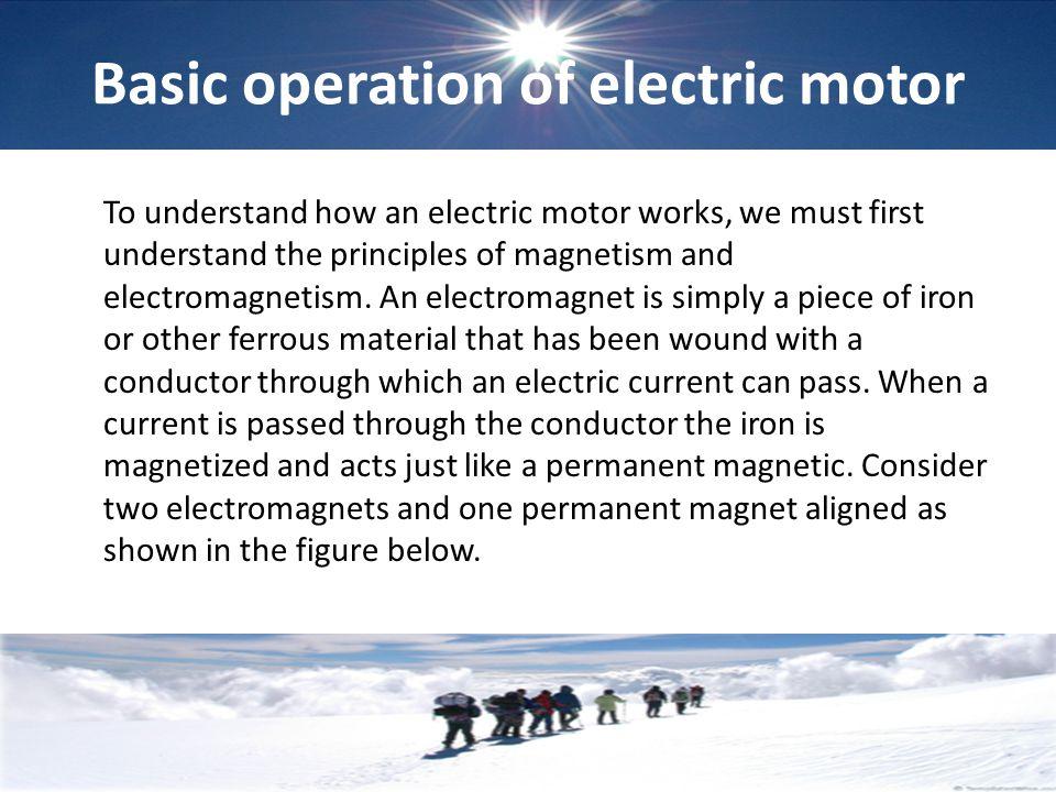 Basic operation of electric motor