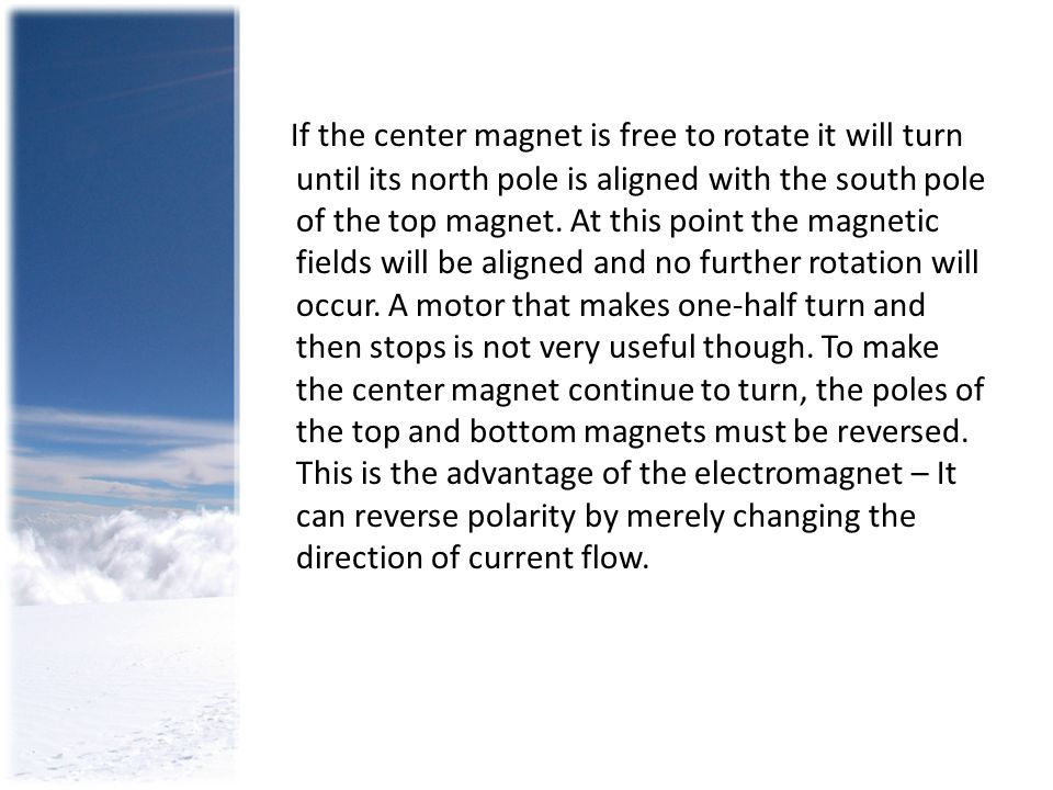 If the center magnet is free to rotate it will turn until its north pole is aligned with the south pole of the top magnet.