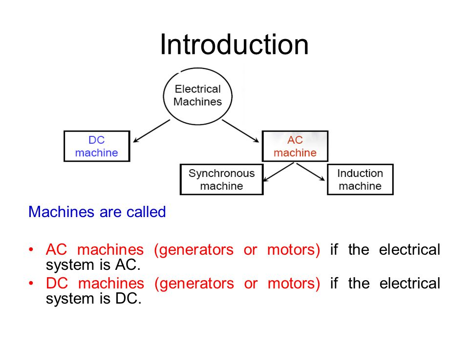 Introduction Machines are called