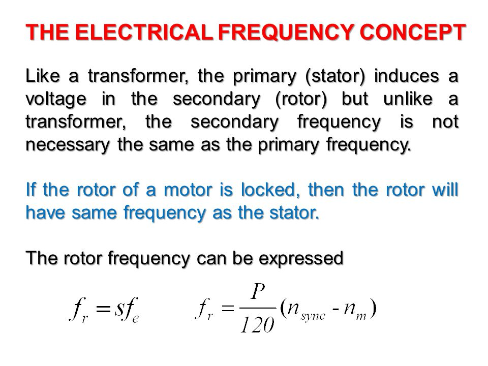 THE ELECTRICAL FREQUENCY CONCEPT