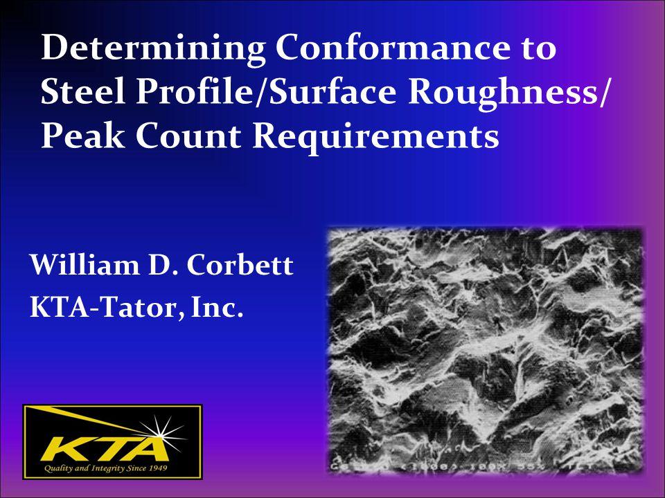 William D. Corbett KTA-Tator, Inc.
