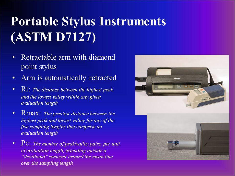Portable Stylus Instruments (ASTM D7127)