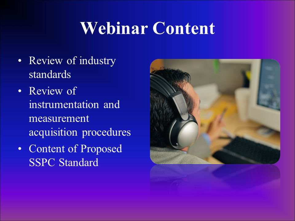Webinar Content Review of industry standards