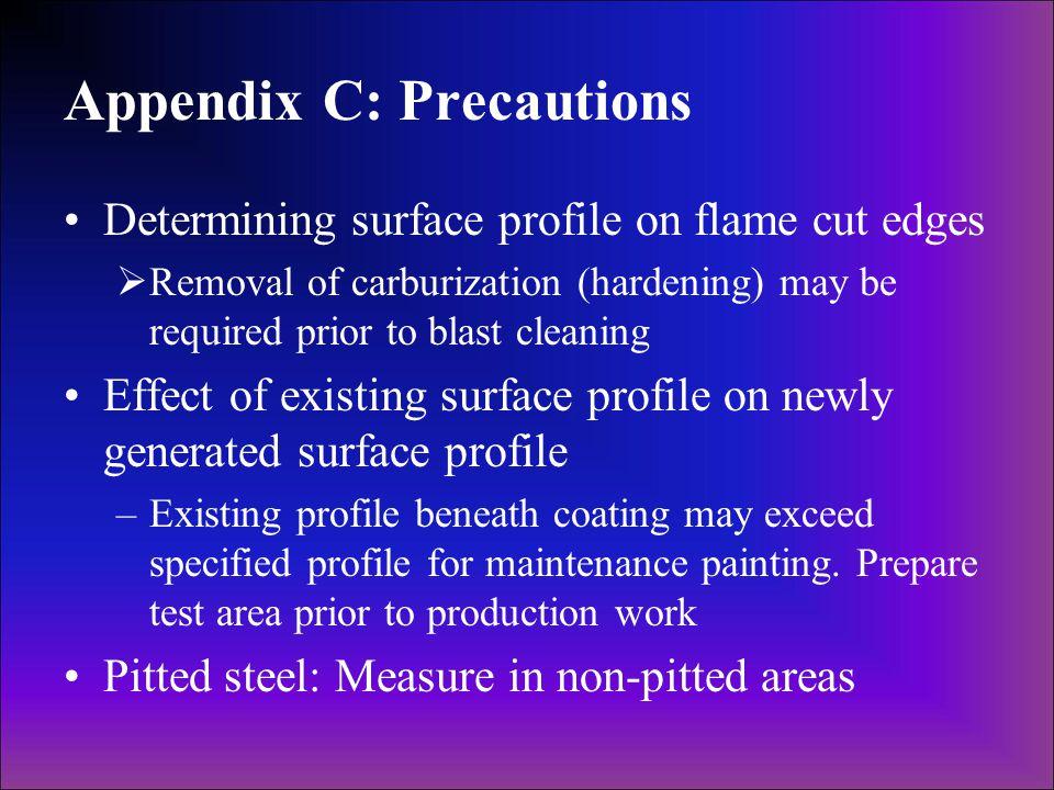 Appendix C: Precautions