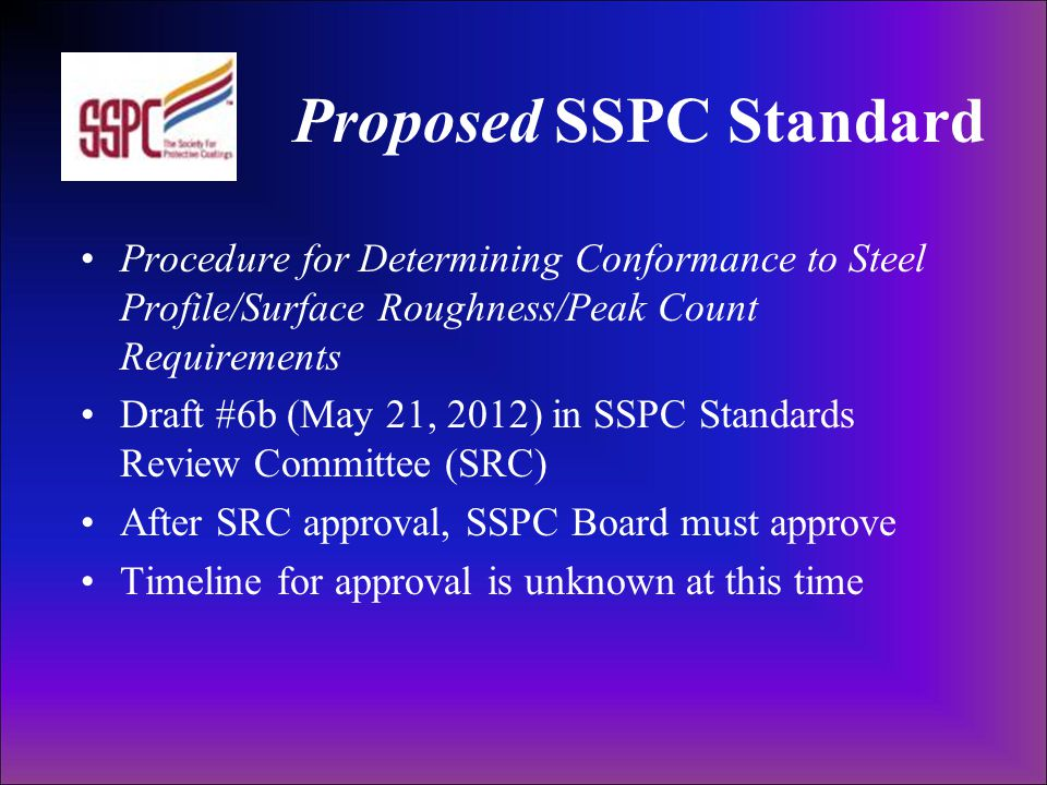 Proposed SSPC Standard