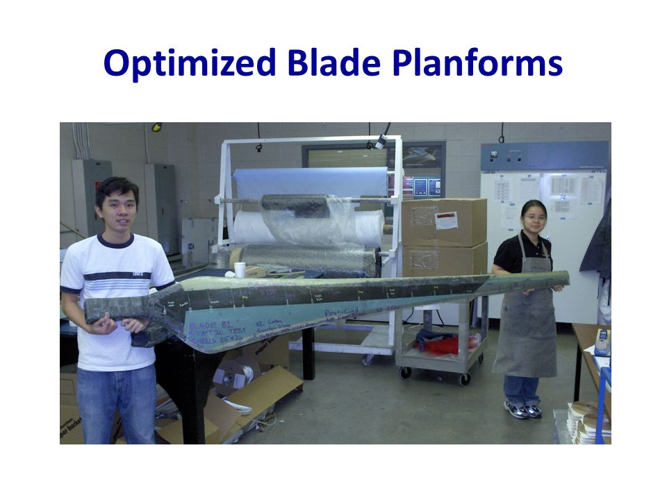 Optimized Blade Planforms