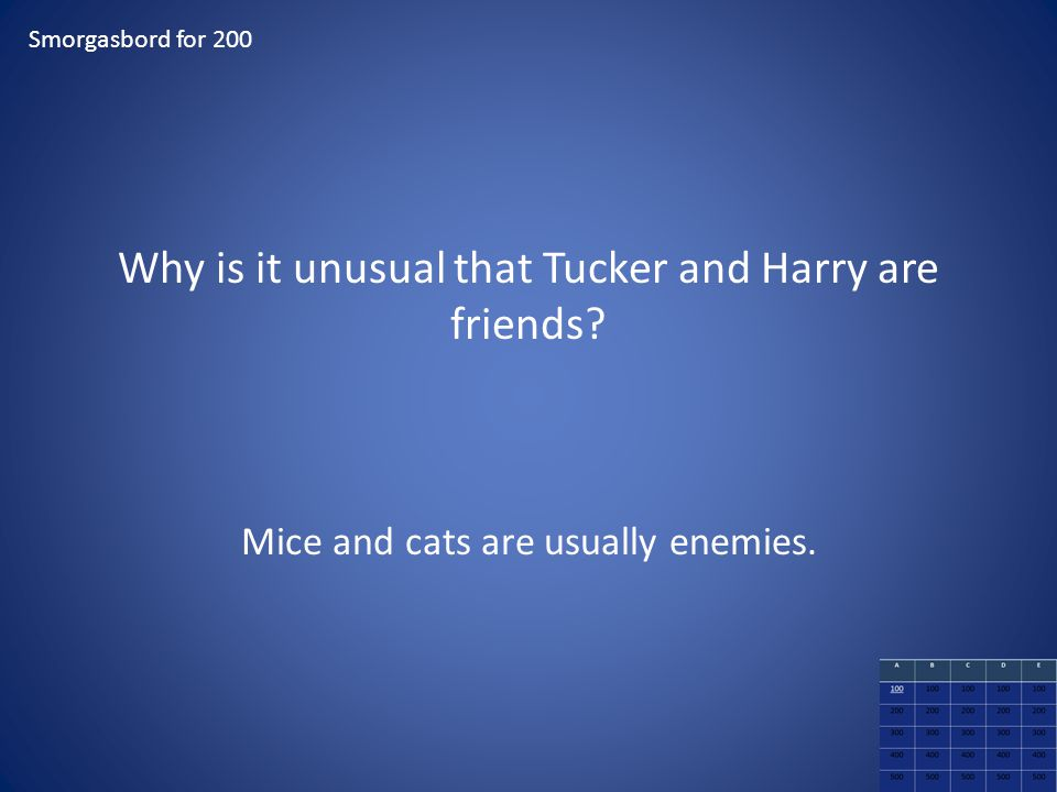 Why is it unusual that Tucker and Harry are friends