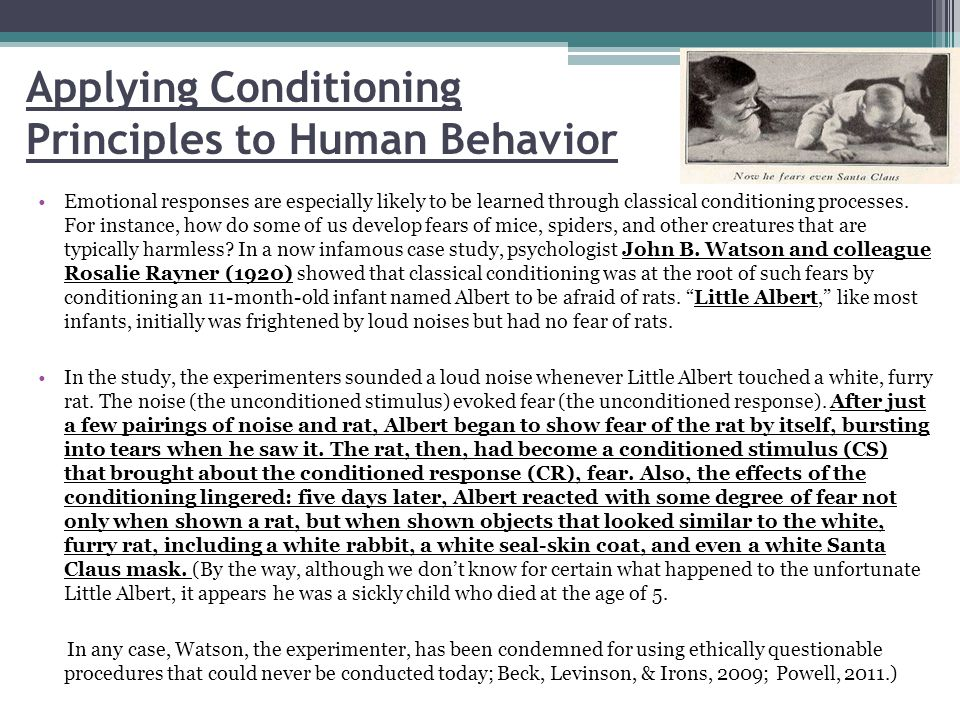 Applying Conditioning Principles to Human Behavior