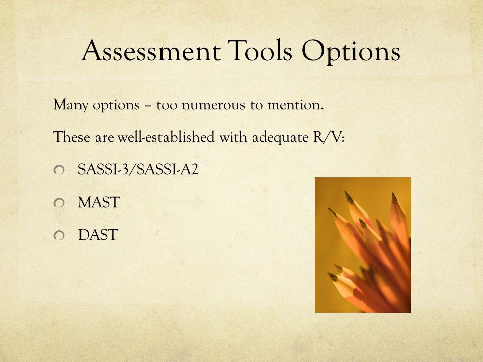 Assessment Tools Options