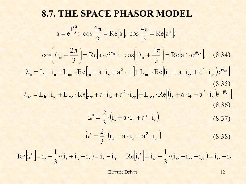 8.7. THE SPACE PHASOR MODEL (8.34) (8.35) (8.36) (8.37) (8.38)