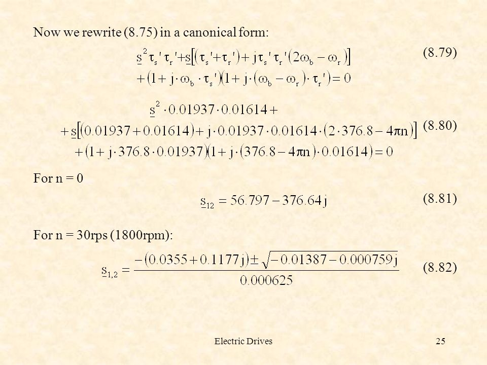 Now we rewrite (8.75) in a canonical form: (8.79)