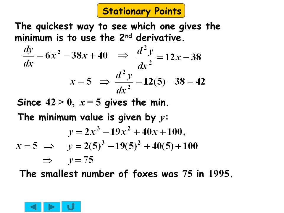 The quickest way to see which one gives the minimum is to use the 2nd derivative.