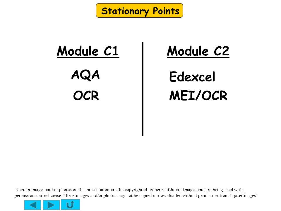 Module C1 Module C2 AQA Edexcel OCR MEI/OCR