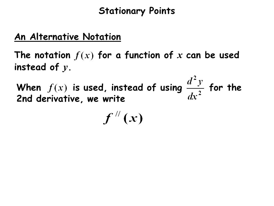 An Alternative Notation