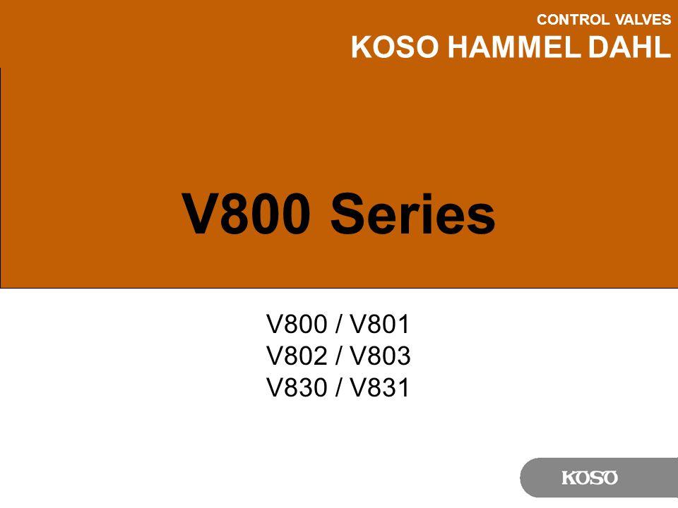 V800 Series V800 / V801 V802 / V803 V830 / V831 Notes: