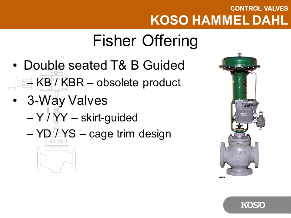 Fisher Offering Double seated T& B Guided 3-Way Valves