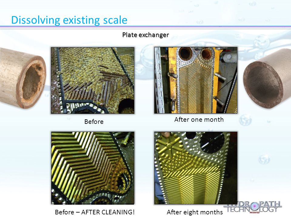 Dissolving existing scale