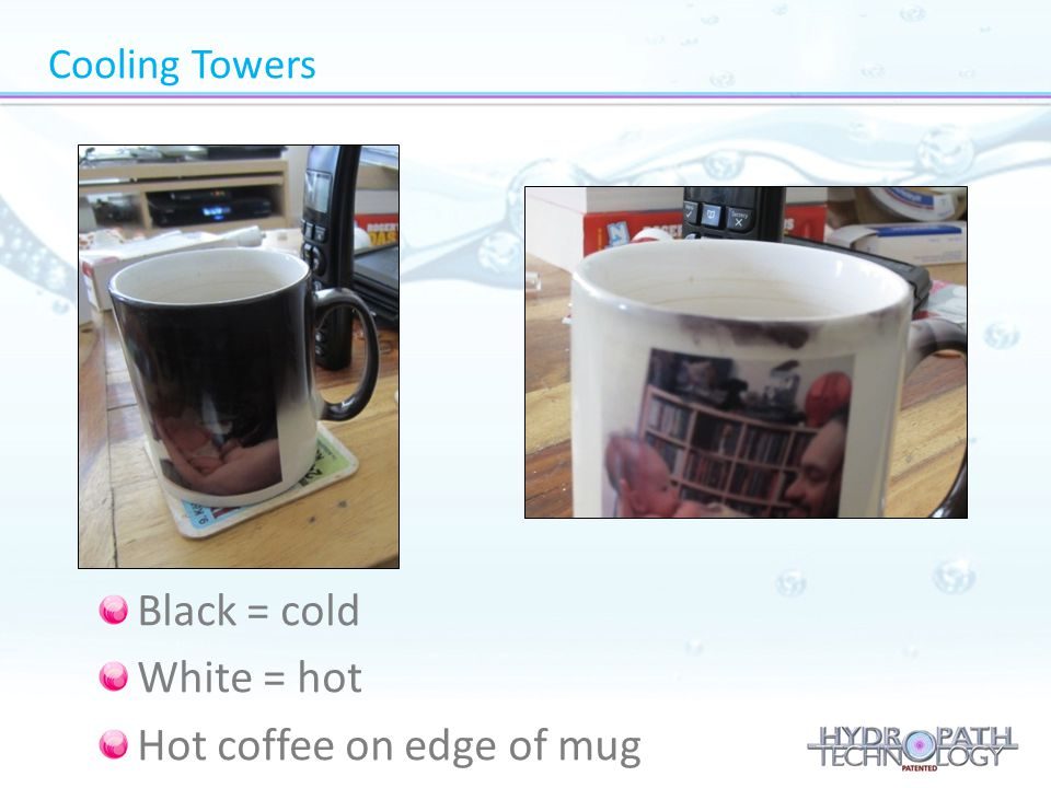 Hot coffee on edge of mug