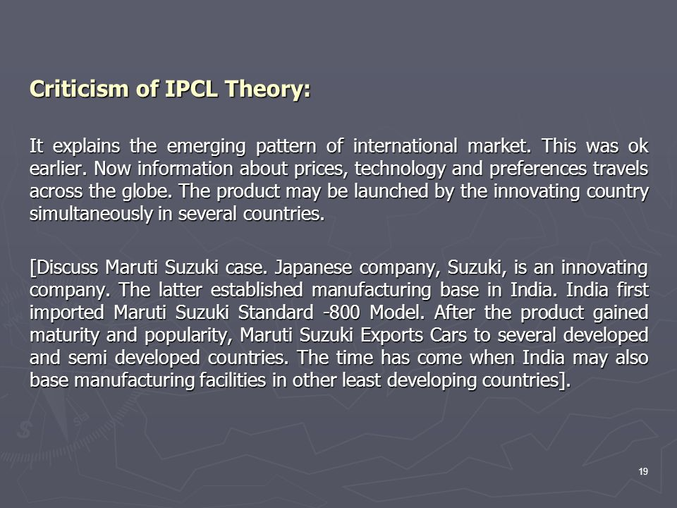 Criticism of IPCL Theory: