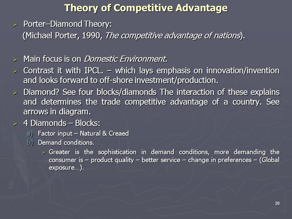 Theory of Competitive Advantage