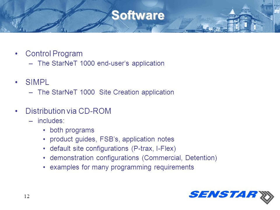 Software Control Program SIMPL Distribution via CD-ROM