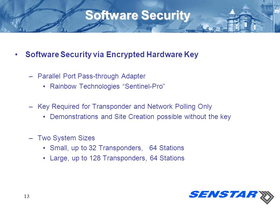 Software Security Software Security via Encrypted Hardware Key