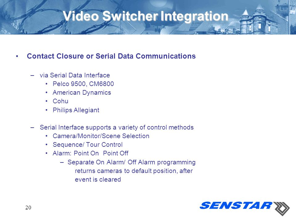 Video Switcher Integration