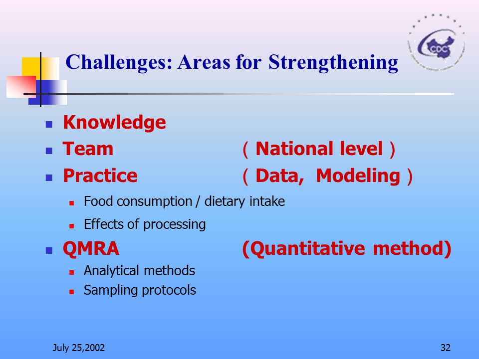 Challenges: Areas for Strengthening