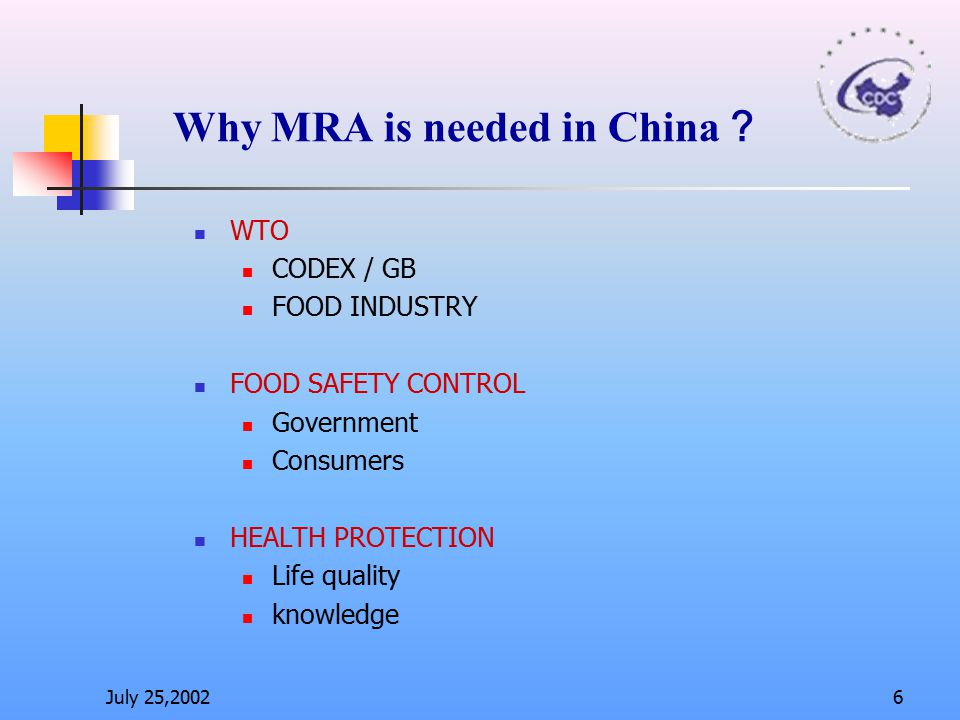 Why MRA is needed in China?