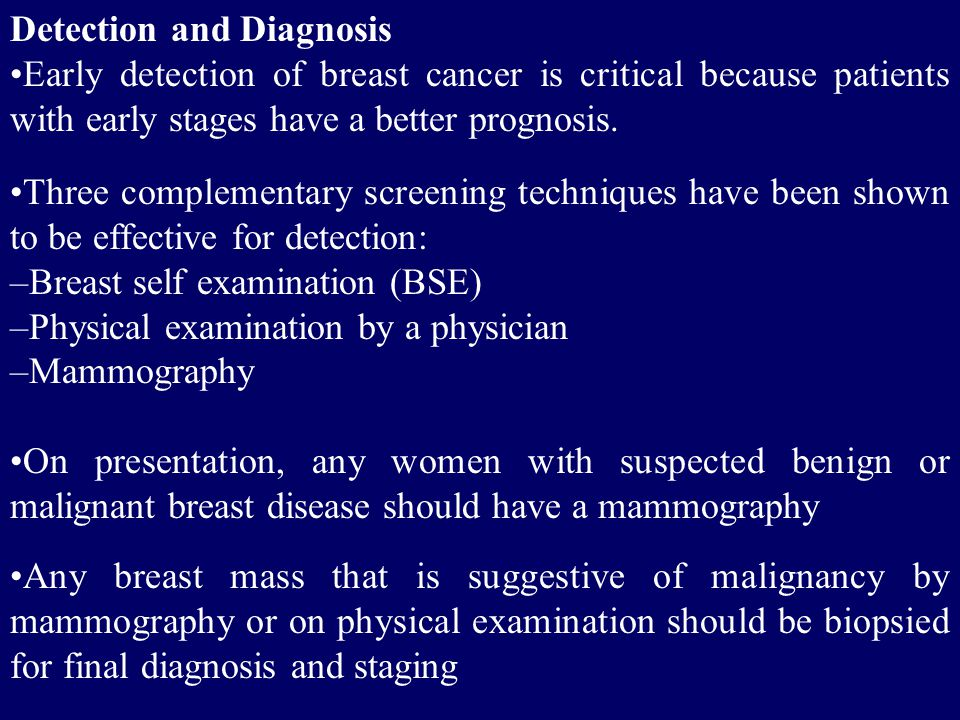Detection and Diagnosis