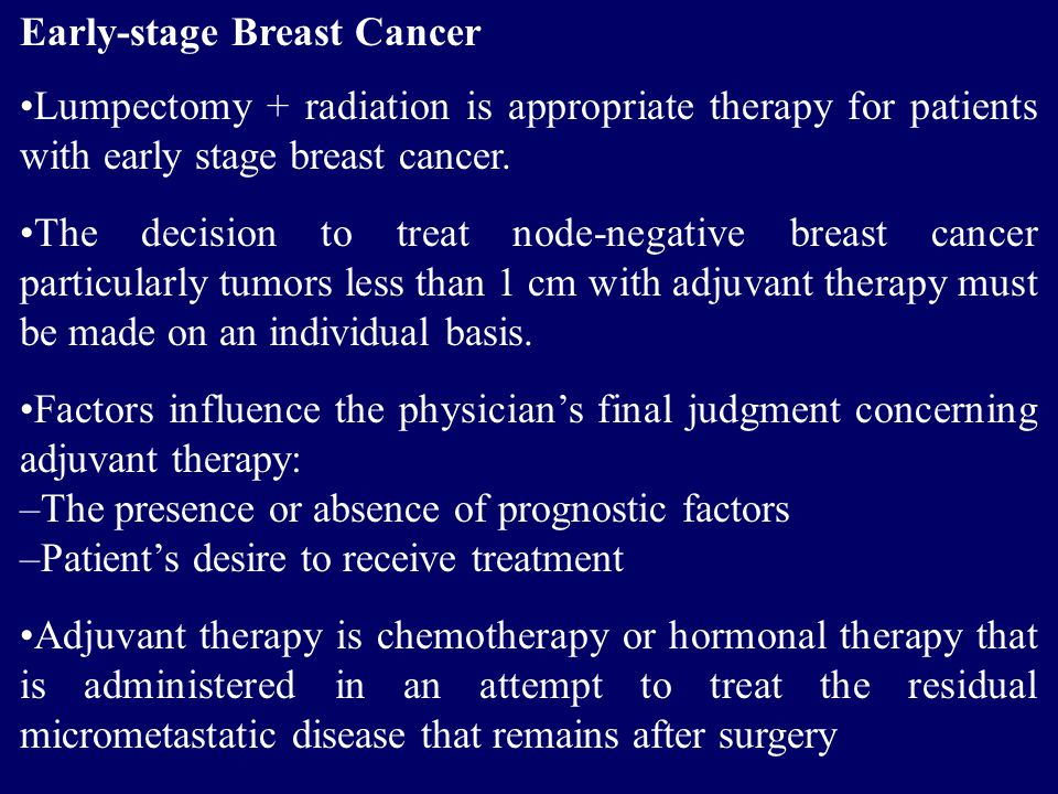 Early-stage Breast Cancer
